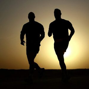 runners, silhouettes, athletes